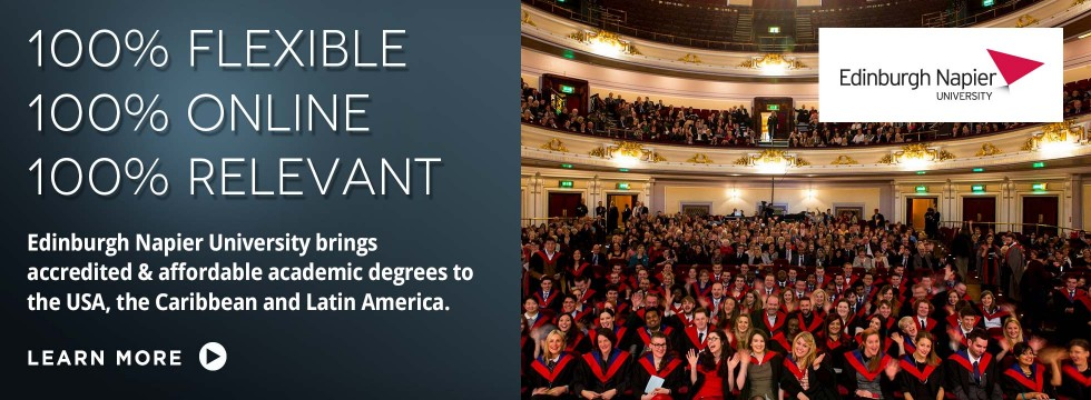 Edinburgh Napier University brings accredited & affordable academic degrees to the US, the Caribbean and Latin America.